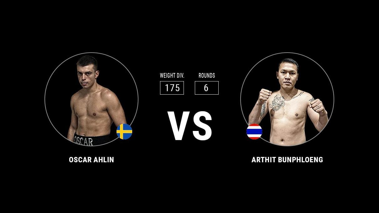 Oscar Ahlin vs Arthit Bunphloeng